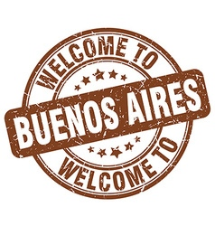 Welcome to buenos aires vector