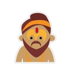 Cartoon man icon indian culture design vector
