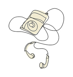A music player is plced vector