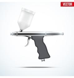 Airbrush with original design vector
