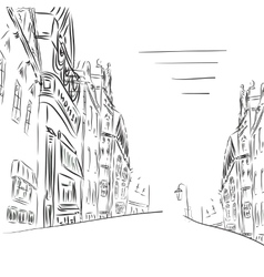 Background the city of sketch art vector image vector image