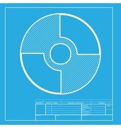 CD or DVD sign White section of icon on vector image vector image