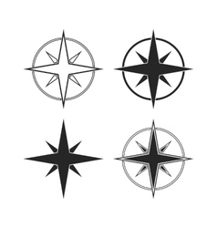 Compass icons isolated on white background vector
