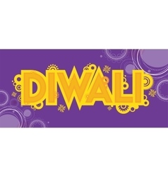 Diwali colourful card decorative background vector image