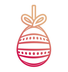 Easter egg pendant with dots and lines d vector