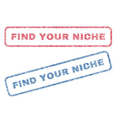 Find your niche textile stamps vector