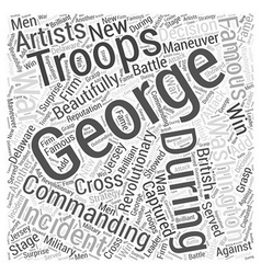 George washington word cloud concept vector