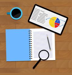 Infographic data analytics vector