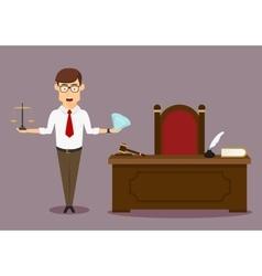 Judge choosing between wealth and justice vector image