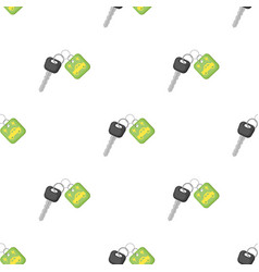 Key from eco car icon in cartoon style isolated on vector