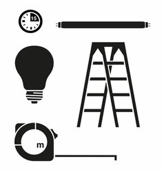 Ladder and electric house set vector