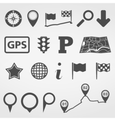 Navigation design elements vector