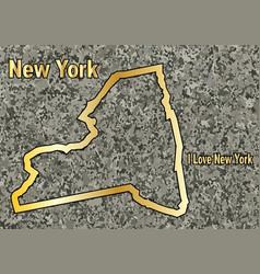 new york in stone vector image