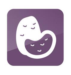 potato outline icon vegetable vector image vector image