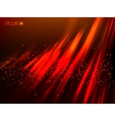 Red aurora polar light abstract background vector image