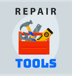 Repair tools box icon creative graphic design logo vector