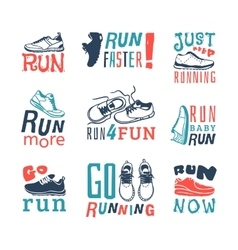 Run sport motivation set vector image
