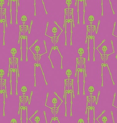 Seamless pattern with skeletons vector