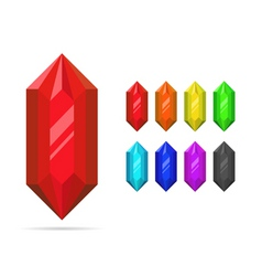 Set of crystals vector