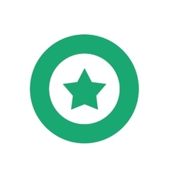 Star in round symbol vector