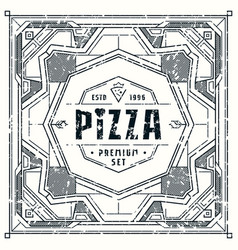 Stock design cover for pizza boxes vector