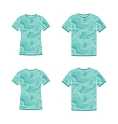 Turquoise short sleeve t-shirts templates with the vector image vector image
