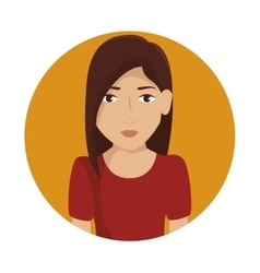 woman female avatar isolated icon vector image
