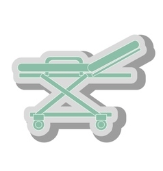 Medical stretcher icon vector