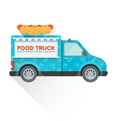 Food truck delivery vehicle vector