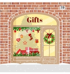 Christmas gifts shop presents store vector
