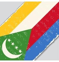 Comoros grunge flag vector image