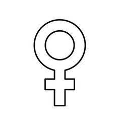 Female symbol isolated icon vector