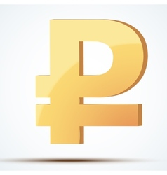 Golden symbol of ruble vector