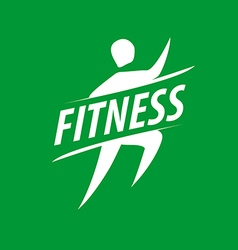 Running man logo for fitness club vector