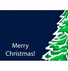 Merry christmas greeting green spruce vector