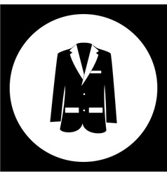 Simple modern jacket suit black icon eps10 vector