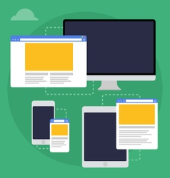 Adaptive web design on different devices vector