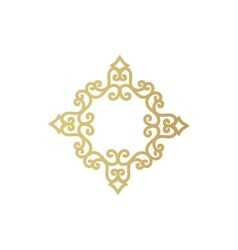 gold geometric figure or vegetable item for vector image