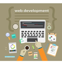 Application or website development Flat design vector image
