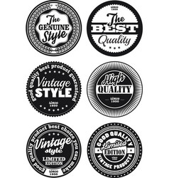 Black and white vintage labels collection 3 vector