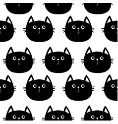 black cat cute cartoon character baby pet vector image vector image