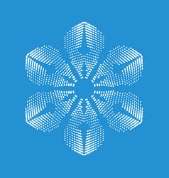 Brittle snowflake icon simple style vector