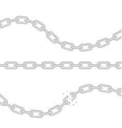 Broken torn chain vector