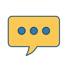 chat bubble symbol vector image vector image