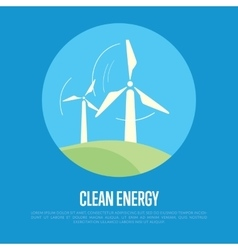 Clean energy banner eco power generation vector