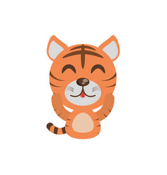 Cute tiger animal character funny vector