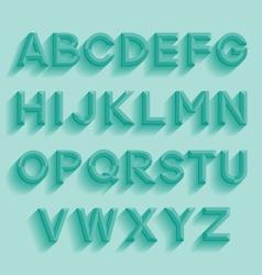 Decorative retro alphabet vector