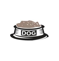 dog dish vector image