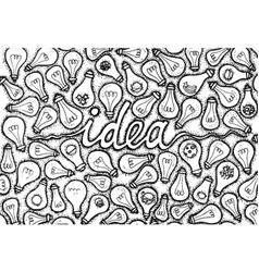 Dotwork idea lamp vector