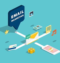 E-mail marketing concepts mobile marketing email vector